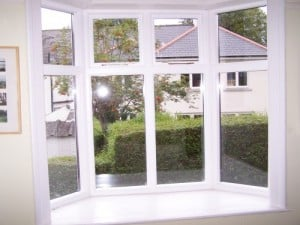 Internal view of new replacement double glazed, traditional casement, bay window in Belfast