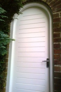 Painted Semi circular Sapele door and frame