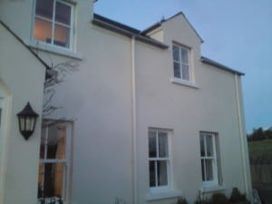 New replacement, painted hardwood, stormproof casement and sliding sash windows in Ballynahinch Co Down
