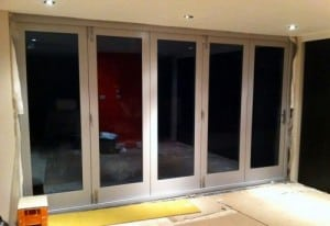 Painted hardwood, double glazed bi-folding doors