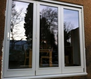 Painted hardwood, double glazed, bi-fold doors