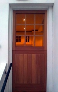 Mahogany nine light, stable door
