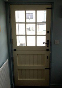 Painted hardwood stable door with double glazed lights