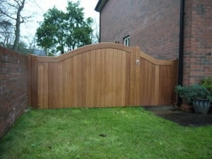 1/3 pedestrian and 2/3 sapele hardwood garden gates in Carrickfergus Co Antrim