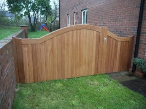 1/3 pedestrian and 2/3 sapele hardwood garden gates