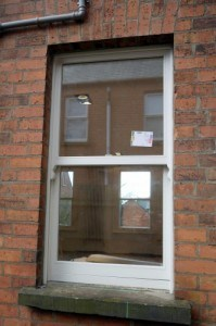 New replacement, painted hardwood, double glazed, Sliding sash window in Belfast