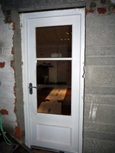 Hardwood, Victorian style entrance door with double glazes vision panels