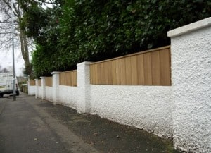 Bespoke Iroko hardwood fence in East Belfast