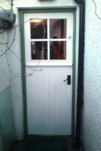 Cottage style stable door with doubleglazed top