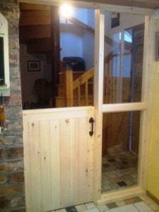cottage style half door with fully glazed side lights