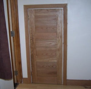 Solid Oak made to measure three panel cupboard door