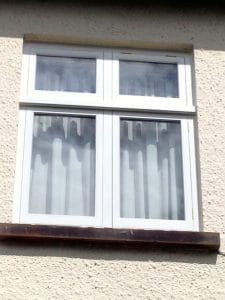 A replacement painted hardwood, double glazed, traditional casement window in Greenisland Co Antrim