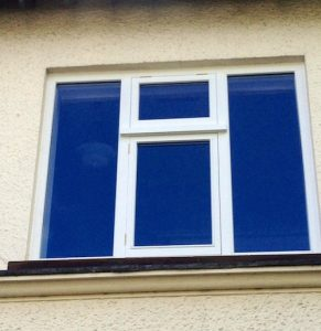 A painted hardwood, double glazed, traditional casement window in Greenisland Co Antrim