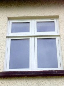 A new replacement painted traditional, casement window in Greenisland Co Antrim