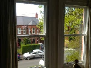Internal view Traditional Double glazed replacement sliding sash windows in Belfast