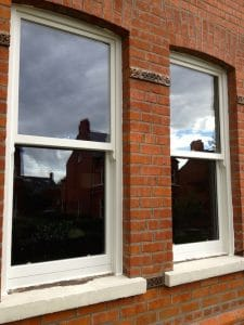 Hardwood,double glazed painted sash windows in Belfast