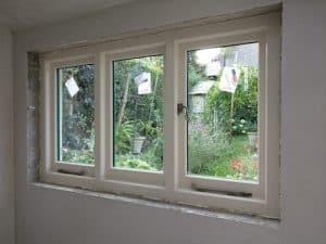 Internal view, Hardwood, painted, double glazed, triple traditional casement windows in Belfast
