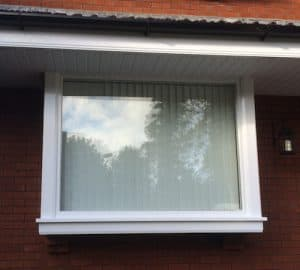 Double glazed, hardwood painted, replacement, stormproof bay window in Belfast
